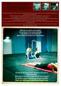 The nature of Vinyasa & Asana
