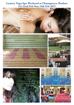 Champneys weekend yoga span retreat